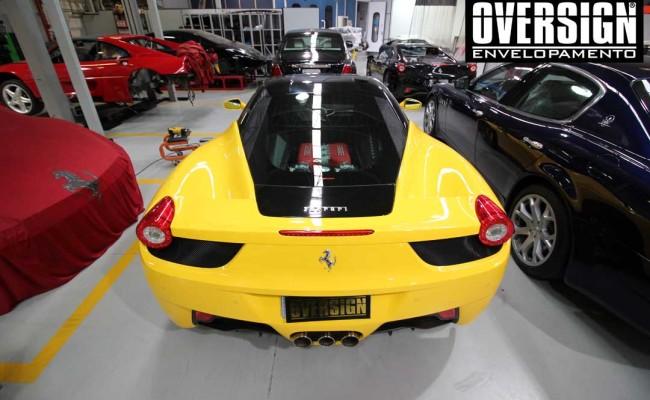 Ferrari F458, ferrari amarela, ferrari black piano, ferrari teto black piano, adesivo black piano, envelopamento de teto, adesivo teto, oversign, Ceramic pro, (21)