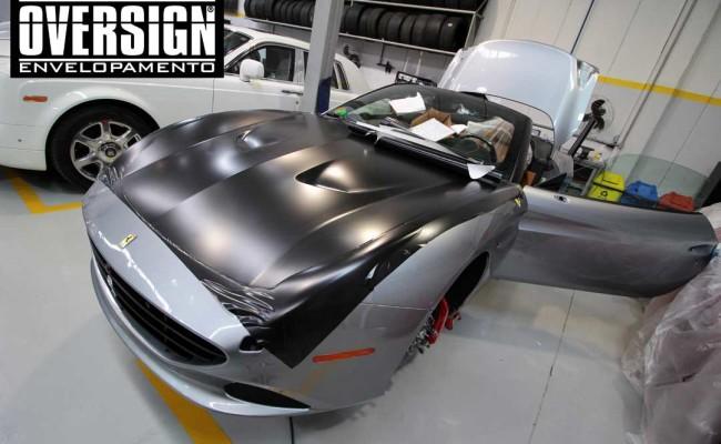 Ferrari California black satin, proteção pintura, ceramic pro, auto esporte, ceramic pro auto esporte,proteção extra pintura , oversign, wrap (4)