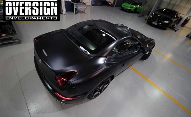 Ferrari California black satin, proteção pintura, ceramic pro, auto esporte, ceramic pro auto esporte,proteção extra pintura , oversign, wrap (67)