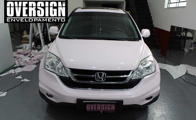 CR-V Mary Kay, crv, crv rosa, cr-v, mary kay, envelopamento mary kay, oversign, adesivo mary kay, ORACAL rosa, ORACAL 970, (12)
