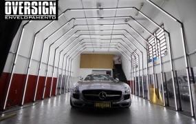 Mercedes SLS AMG Preto fosco.
