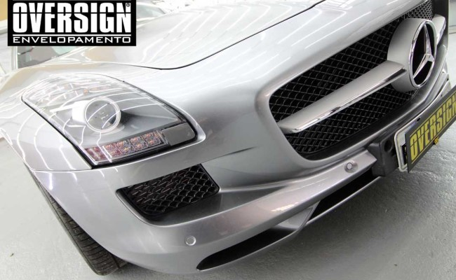 Mercedes SLS AMG, ENvelopamento, preto fosco, black satin, oversign, ferrari, porsche, Lamborghini, Maserati, Levante, envelopamento de carros, teto black piano, (01 (3)