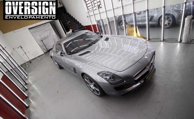 Mercedes SLS AMG, ENvelopamento, preto fosco, black satin, oversign, ferrari, porsche, Lamborghini, Maserati, Levante, envelopamento de carros, teto black piano, (01 (6)
