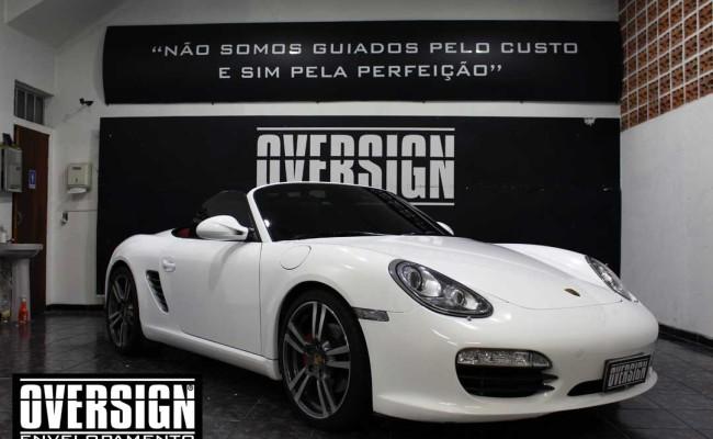 Porsche Branco, Porsche Boxster S Envelopada, envelopamento, adesivo branco, avery supreme wrapping film, oversign, casa verde, (22)