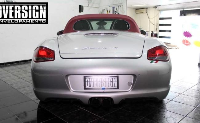 Porsche Branco, Porsche Boxster S Envelopada, envelopamento, adesivo branco, avery supreme wrapping film, oversign, casa verde, (3)