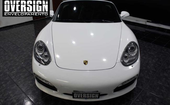 Porsche Branco, Porsche Boxster S Envelopada, envelopamento, adesivo branco, avery supreme wrapping film, oversign, casa verde, (33)