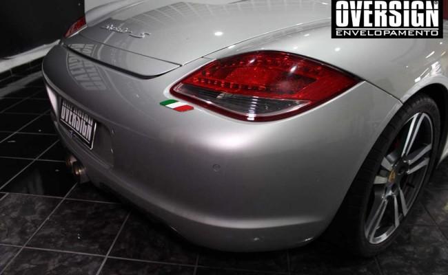 Porsche Branco, Porsche Boxster S Envelopada, envelopamento, adesivo branco, avery supreme wrapping film, oversign, casa verde, (4)