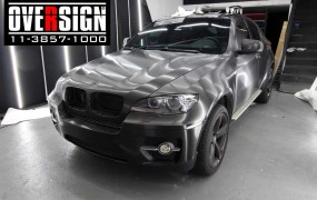 BMW X6 Envelopamento escovado metálico preto