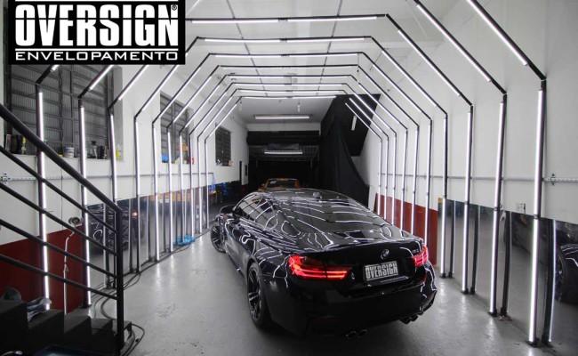 BMW M4 branco pérola, Hexis, Avery Dennison, Sid signs, oversign, envelopamento de carro, M4, f82 (01)