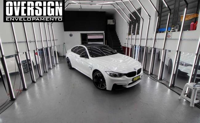 BMW M4 branco pérola, Hexis, Avery Dennison, Sid signs, oversign, envelopamento de carro, M4, f82 (25)