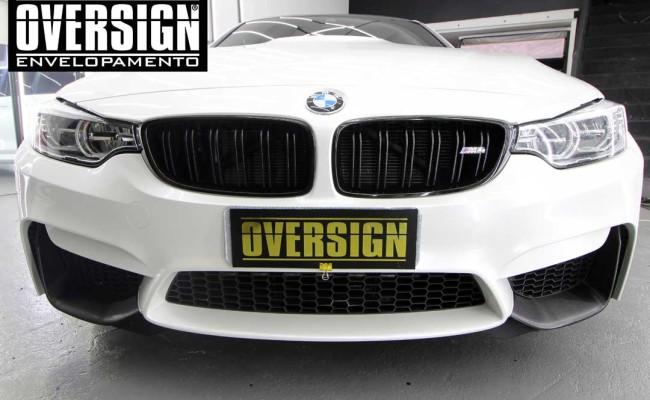BMW M4 branco pérola, Hexis, Avery Dennison, Sid signs, oversign, envelopamento de carro, M4, f82 (31)