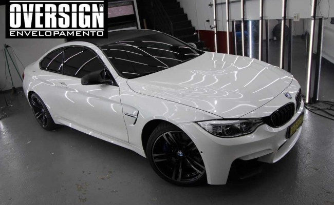 BMW M4 branco pérola, Hexis, Avery Dennison, Sid signs, oversign, envelopamento de carro, M4, f82 (33)