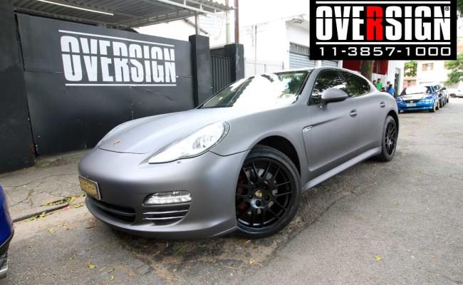 Porsche Panamera 4s, Porsche Panamera envelopada, Porsche cinza fosco, envelopamento cinza fosco, envelopamento cinza metalico fosco, over, panamera (28)