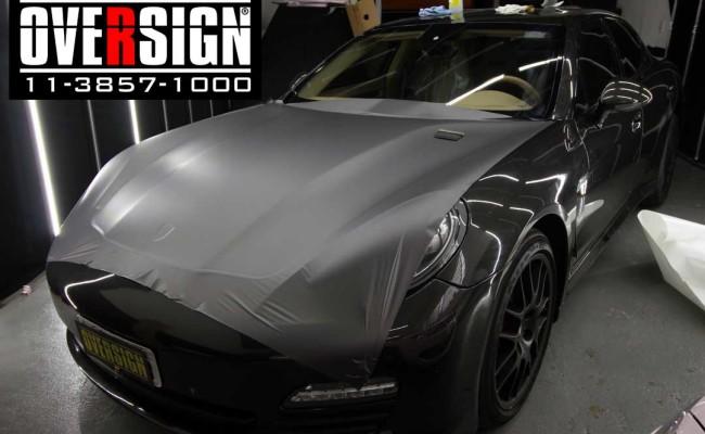 Porsche Panamera 4s, Porsche Panamera envelopada, Porsche cinza fosco, envelopamento cinza fosco, envelopamento cinza metalico fosco, over, panamera (3)