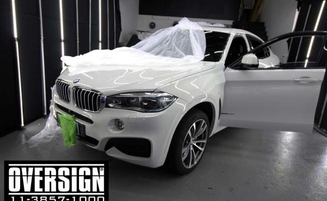 BMW X6 m, bmw x6, bmw x6 grey, nova bmw x6, envelopamento, oversign, grand brasil, v8, twinturbo, (2)