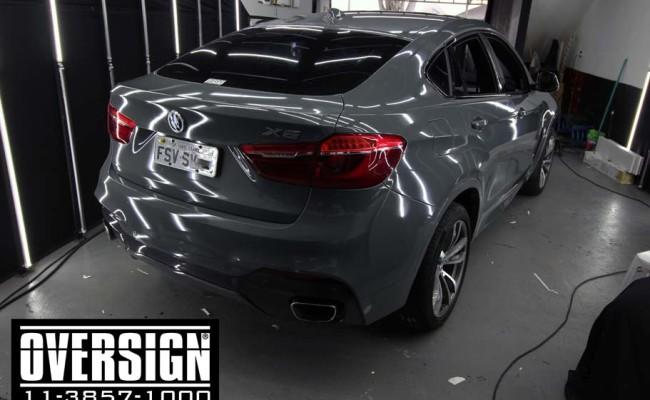 BMW X6 m, bmw x6, bmw x6 grey, nova bmw x6, envelopamento, oversign, grand brasil, v8, twinturbo, (6)