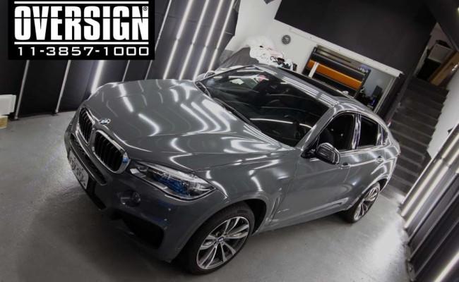 BMW X6 m, bmw x6, bmw x6 grey, nova bmw x6, envelopamento, oversign, grand brasil, v8, twinturbo, (9)