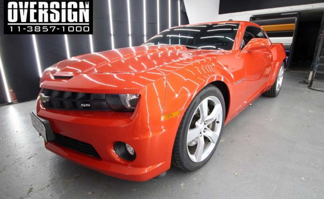 Camaro Laranja, Novo Camaro, Novo camaro laranja, envelopamento, envelopamento de carros, envelopamento sp, supreme wrapping film, oversign, wrap, (4)