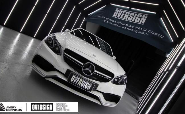 Mercedes e63, 363 amg, dark basalt, envelopamento, envelopamento de carros, oversign, envelopamento tecnico, supreme wrapping film, mercedes dark basalt, (6)