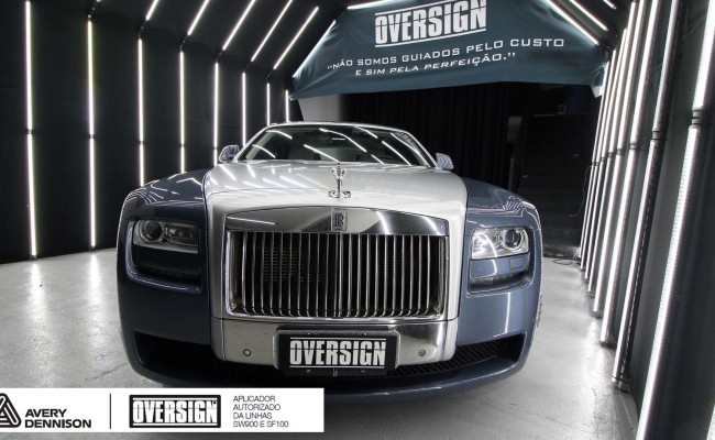 Rolls Royce, Rolls Royce Gosth, Rolls Royce Colorflow, Supreme wrapping film, oversign, carro luxuoso, envelopamento, envelopamento de carros, (4)