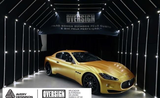 Maserati, granTurismo, envelopamento, energetic yellow satin, oversign, envelopamento preço, via italia, novo maserati, exoshield, (49)