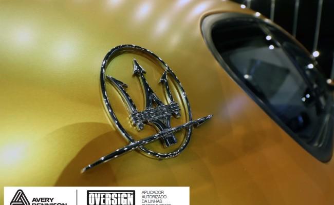 Maserati, granTurismo, envelopamento, energetic yellow satin, oversign, envelopamento preço, via italia, novo maserati, exoshield, (56)