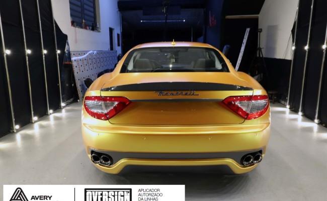 Maserati, granTurismo, envelopamento, energetic yellow satin, oversign, envelopamento preço, via italia, novo maserati, exoshield, (58)
