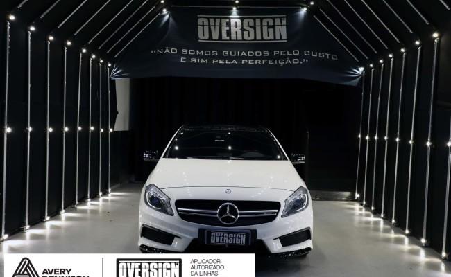Mercedes A45 amg, AMG, a45, novo a45, wave blue, envelopamento, envelopamento de carros, carros de luxo, divena mercedes, oversign, (01)