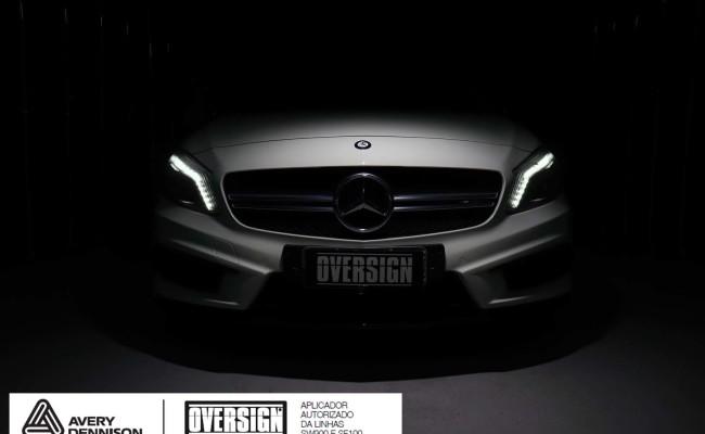 Mercedes A45 amg, AMG, a45, novo a45, wave blue, envelopamento, envelopamento de carros, carros de luxo, divena mercedes, oversign, (12)