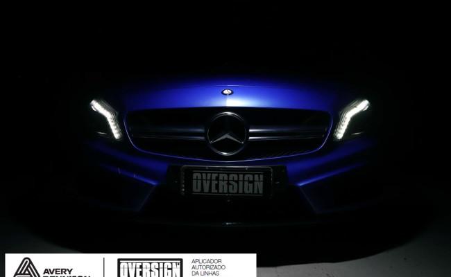 Mercedes A45 amg, AMG, a45, novo a45, wave blue, envelopamento, envelopamento de carros, carros de luxo, divena mercedes, oversign, (26)