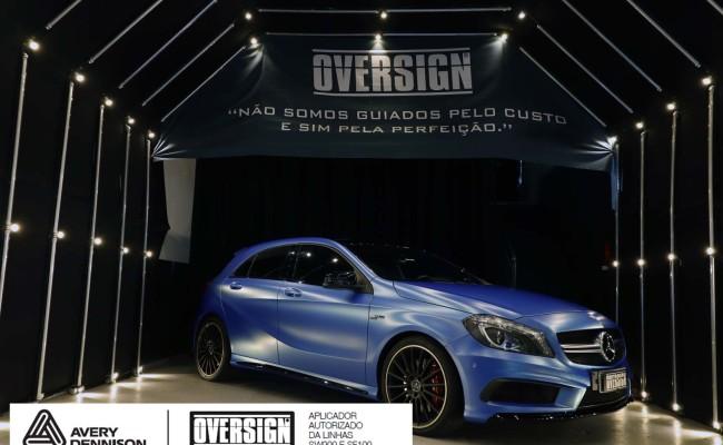 Mercedes A45 amg, AMG, a45, novo a45, wave blue, envelopamento, envelopamento de carros, carros de luxo, divena mercedes, oversign, (45)