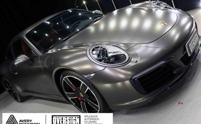 Porsche 911, porsche 911 Carrera, carrera 911, envelopamento, envelopamento de carros, oversign signature, dark basalt, envelopamento dark basalt, (63)