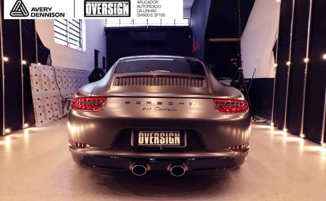 Porsche 911, porsche 911 Carrera, carrera 911, envelopamento, envelopamento de carros, oversign signature, dark basalt, envelopamento dark basalt, (64)