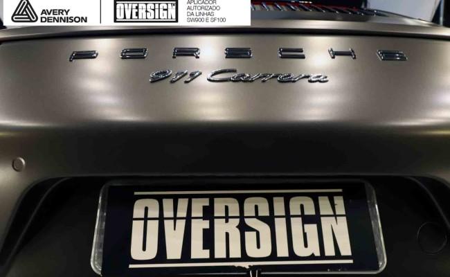 Porsche 911, porsche 911 Carrera, carrera 911, envelopamento, envelopamento de carros, oversign signature, dark basalt, envelopamento dark basalt, (65)