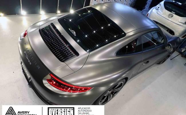 Porsche 911, porsche 911 Carrera, carrera 911, envelopamento, envelopamento de carros, oversign signature, dark basalt, envelopamento dark basalt, (67)